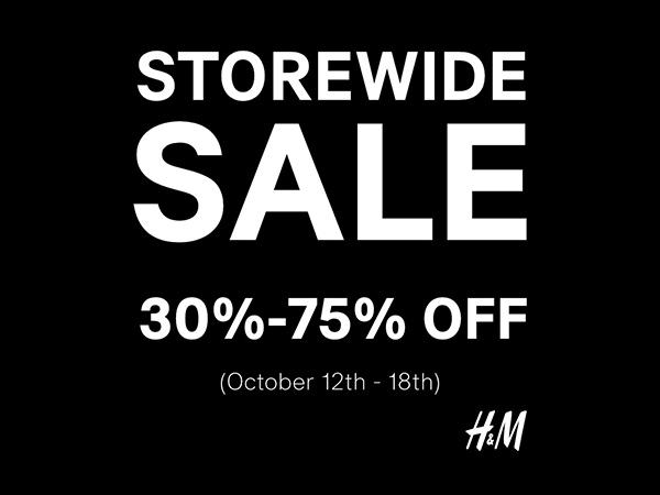 Storewide Sale - ลดทั้งร้านสูงสุด 75%