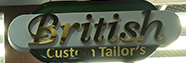 BRITISH CUSTOM TAILOR'S