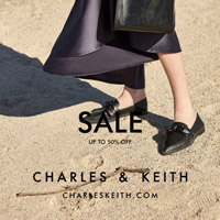 CHARLES & KEITH SALE UP TO 50% OFF