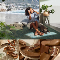 The new modern thong sandal with an elegant buckle style