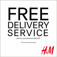 H&M  FREE DELIVERY SERVICE